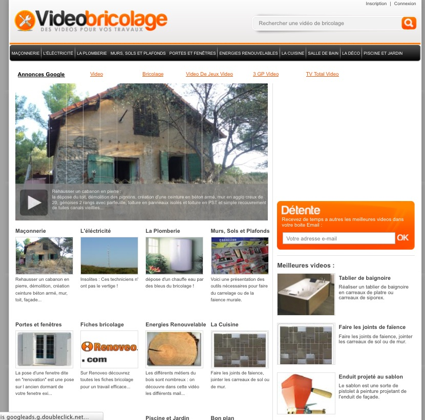site video bricolage